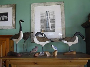Handcarved Canada Geese