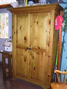 """Pine 2 Door Armoire 40"""" 72"""" 21"""""""