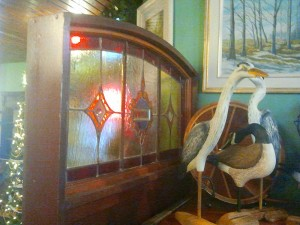 Vintage Stain Glass Room Divider