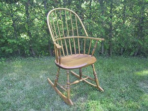 Large Sack Back Rocking Chair