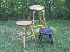 Stools. Variety of stools and heights.