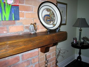 """Vintage 4 1/2x8"""" Pine Mantle Any Length with Brackets"""