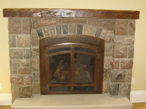 Hand Hewn Fireplace Capper