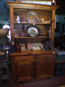 """Vintage Pine Open Dish Dresser - 48x20x82"""""""