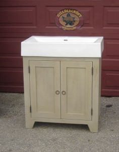 Two Door Contemporary Vanity Custom to your Sink