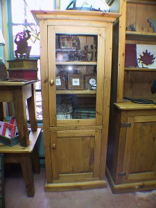 "Two Door Book/Dish Cabinet 26""w 16""d 60-72""h"